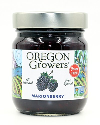 - Oregon Growers Marionberry Fruit Spread, 12 oz (Single Pack)