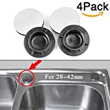4-Pack Kitchen Sink Tap Hole Blanking Plug Cover Plate Disk 28-42mm (1.1-1.65 inch )