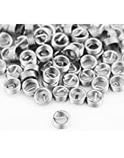 Coiled Wire Insert, 100pcs Stainless Steel Helical Thread Insert Thread Repair Kit M3 x 0.5 x 1D Length