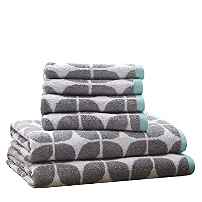 Intelligent Design Lita 6 Piece Cotton Jacquard Towel Set