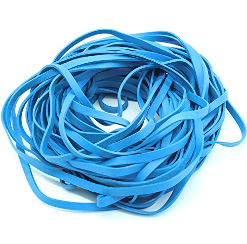 Garbage Trash Can Rubber Bands Blue Large Size 17