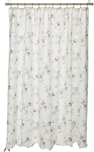- JLA Home INC Daria Cotton Scalloped Shower Curtain Ivory 72x72