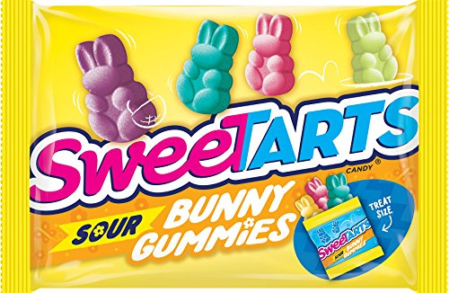 SweeTARTS Sour Bunny Gummies Easter Candy, 11 Ounce -