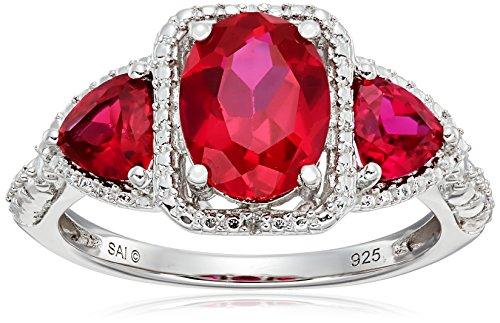 Diamond Accent 3 Stone Ring - 7