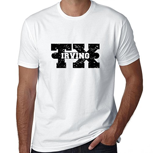 Hollywood Thread Irving, Texas TX Classic City State Sign Men's T-Shirt]()