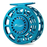 Piscifun Platte Fully Sealed Drag Large Arbor Fly Fishing Reel with CNC-machined Aluminum Alloy Body 9/10 Ice Blue