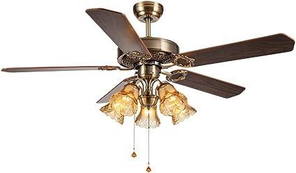 MMD Ventilador de Techo Lámpara de Techo Ventilador Negro Windy Mute Bajo Consumo de energía (Color : 5 Lights): Amazon.es: Hogar