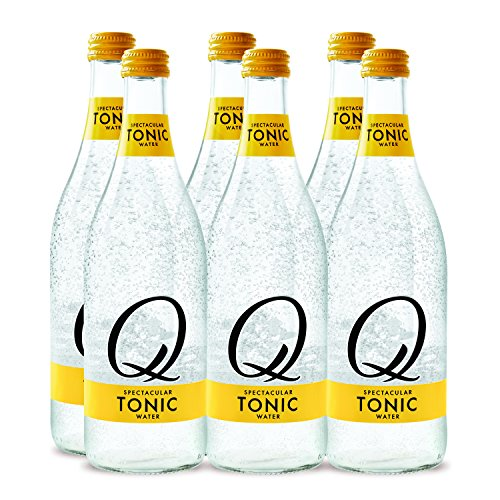 Quinine Water (Q Drinks Tonic Water 500ml Glass Bottle Pack of 6 Premium Mixers)
