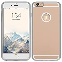 Navor® iPhone 6+ 6S Wireless Charging Receiver Phone Case Charger Back Cover with Flexible Lightning Connector-GOLD