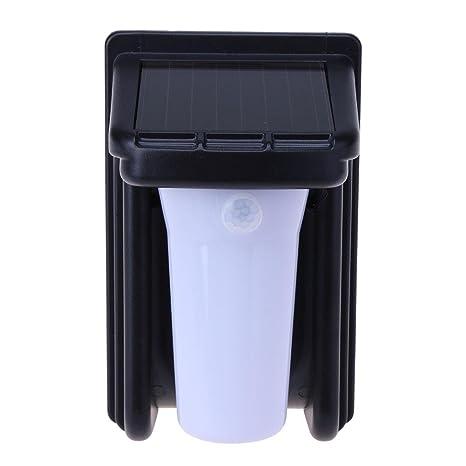 Starnearby Luz Solar 180 Grados Rotación Sensor Movimiento LED Pasillo Lámpara de Pared Nocturna