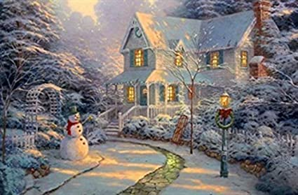 Christmas Led Canvas.Large Festive Snowman Winter Christmas Snow Scene Light Up Led Canvas Picture F1078