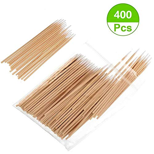 - Sakolla 400 Count Pointed Cotton Swab - Precision Microblading Cotton Tipped Applicator & Tattoo Permanent Supplies Cotton Swabs Makeup Cosmetic Applicator Sticks - 2 Size