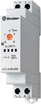 Finder serie 14 - Automático escalera 1na 16a 3/4 hilos 230vac rial: Amazon.es: Bricolaje y herramientas