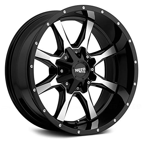 (Moto Metal MO970 Gloss Black Wheel Machined With Milled Accents (18x9