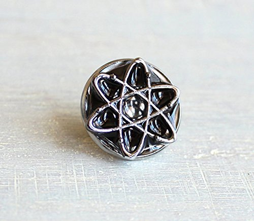 Black atom tie tack. by Nature With You