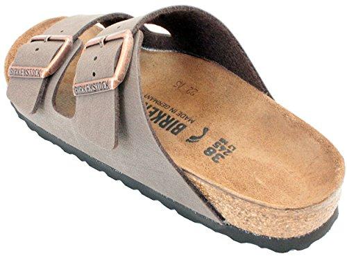 Birkenstock Arizona Mocha Birko-Flor 'Narrow Fit' Women's Sandals (9-9.5 US Women - 40 N EU) by Birkenstock (Image #2)