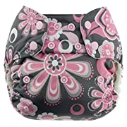 Blueberry One Size Simplex All In One Cloth Diapers, Made in USA (Petals)