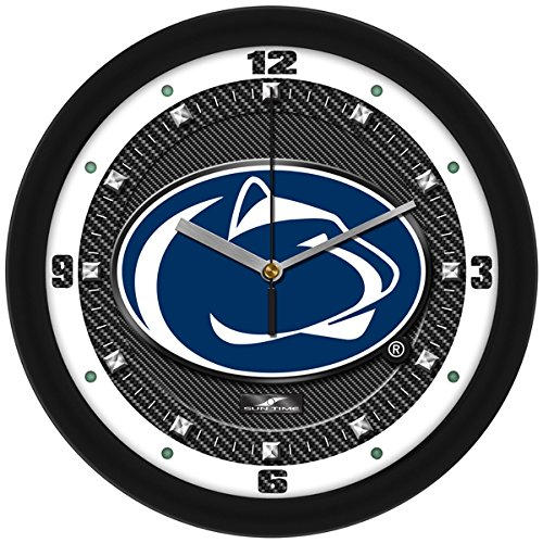 NCAA Penn State Nittany Lions Textured Carbon Fiber Wall - Wall Clock State Penn