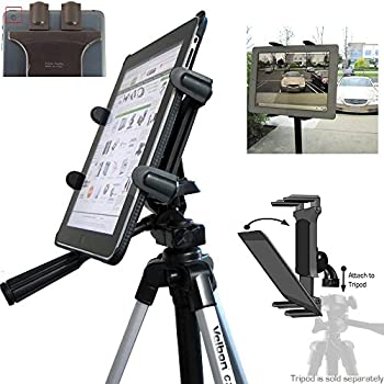 ChargerCity Vibration Free 360° Adjust Tripod Mount 1/4-20 Adapter, HDX-Lock Holder for Apple iPad Pro iPad Air Mini Galaxy Tab Surface 7-12-Inch Tablets (Fits All Case)