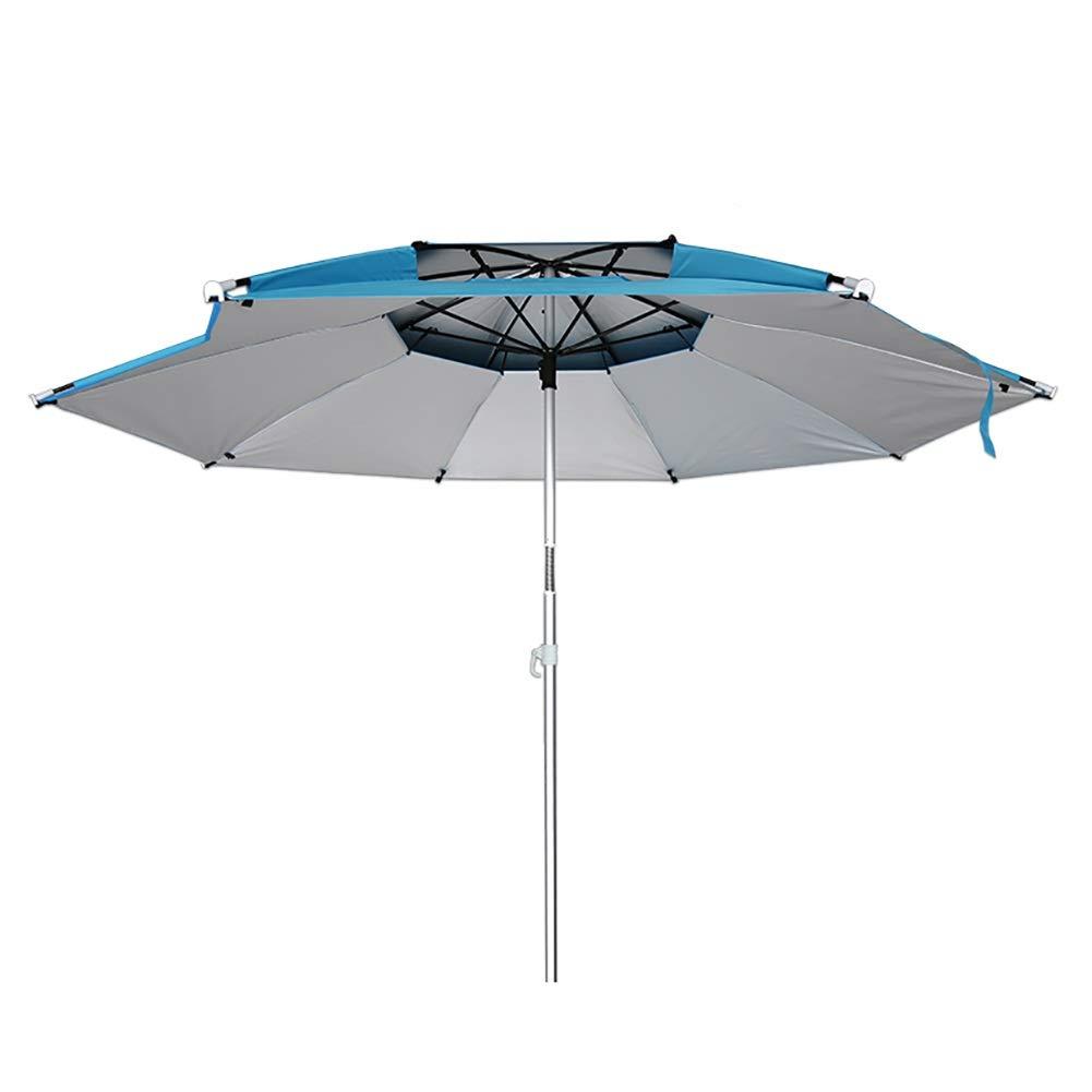 長傘 ポータブル釣り傘 - 3段伸縮式ポール付き屋外サンシェード、シルバーグルーUVプロテクション、360°回転するビーチ、公園 (サイズ さいず : 2.4m(7.87ft)) B07RRPY1S2  2.4m(7.87ft)
