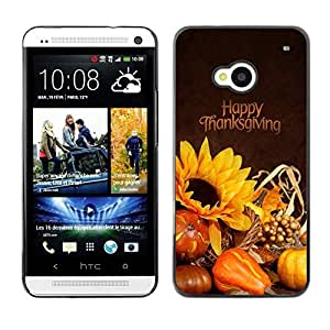 YOYO Slim PC / Aluminium Case Cover Armor Shell Portection //Christmas Holiday Happy Thanksgiving Day 1161 //HTC One M7