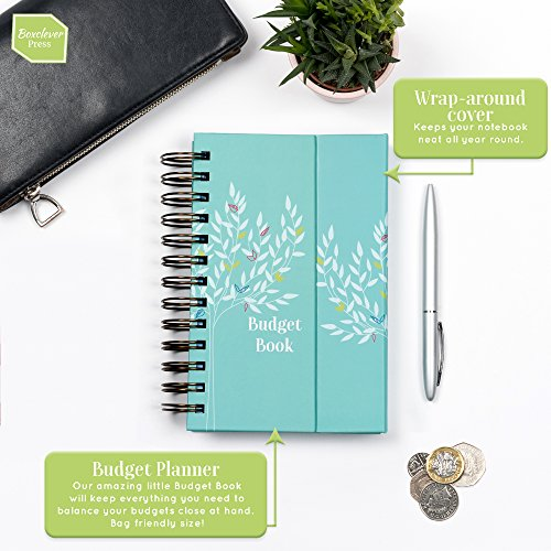Boxclever Press Budget Book. Pretty Monthly Bill Organizer & Budget Planner. Accounts Book to Keep Track of Finances. Household Expenses & Finance Tracker with Pockets to Store Receipts & Bills by Boxclever Press (Image #6)