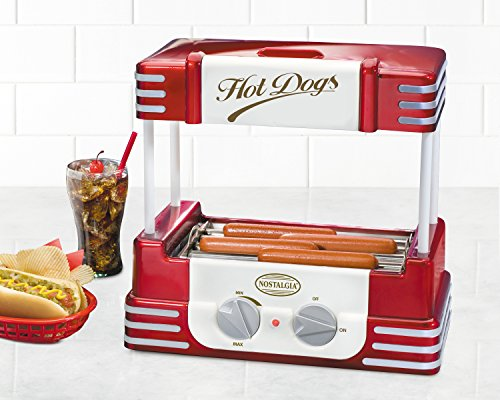 Nostalgia-RHD800-Retro-Series-Hot-Dog-Roller-with-Bun-Warmer
