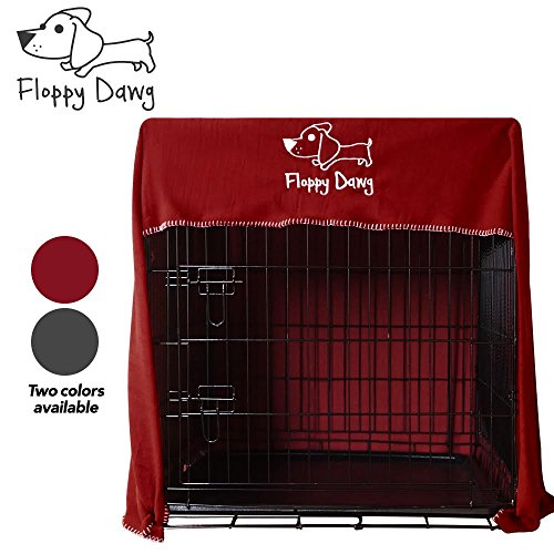 Innovative Dog Crate Cover - Perfectly Fits Large 42' Kennels and Wire Crates. Made of 100% Lightweight Fleece - Doubles as Comfy Dog Blanket. Works with Smaller Crates as Well