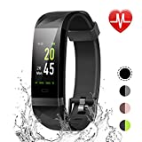 LETSCOM Fitness Tracker Color Screen, IP68 Waterproof Activity Tracker with Heart Rate Monitor