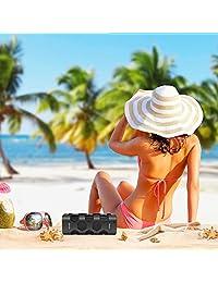 Altavoces Bluetooth portátil impermeable, irrompible, controlador dual de 20 W, graves mejorados, Powerbank de 5200 mAh, resistente al polvo, a prueba de golpes, micrófono integrado, soporte NFC, 24 horas de juego para fiesta, piscina, acampada