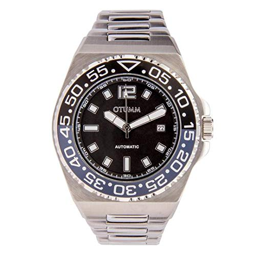 Otumm Automatic AUD002 45mm Azul Dial con Correa de Metal Unisex Reloj: Amazon.es: Relojes