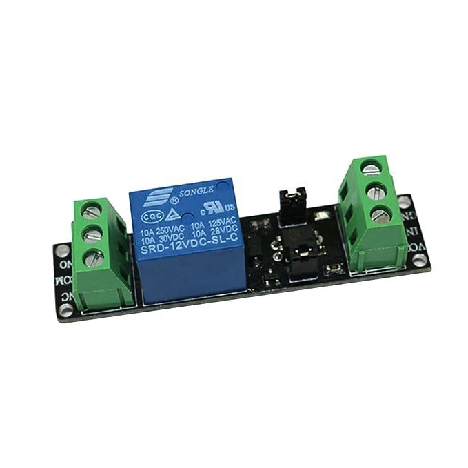 12V Almencla 1 Channel Relay Module Low Level Optocouple Isolation Driver Board