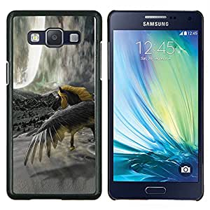 EJOOY---Cubierta de la caja de protección para la piel dura ** Samsung Galaxy A5 A5000 ** --Caballo Salvaje Amarillo Gris Unicornio Mágico