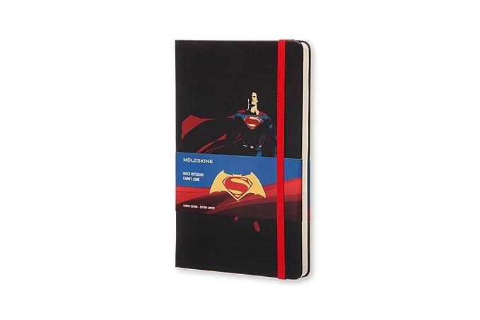 Moleskine Batman vs Superman Limited Edition Notebook, Large, Ruled, Black, Superman, Hard Cover (8055002851534)