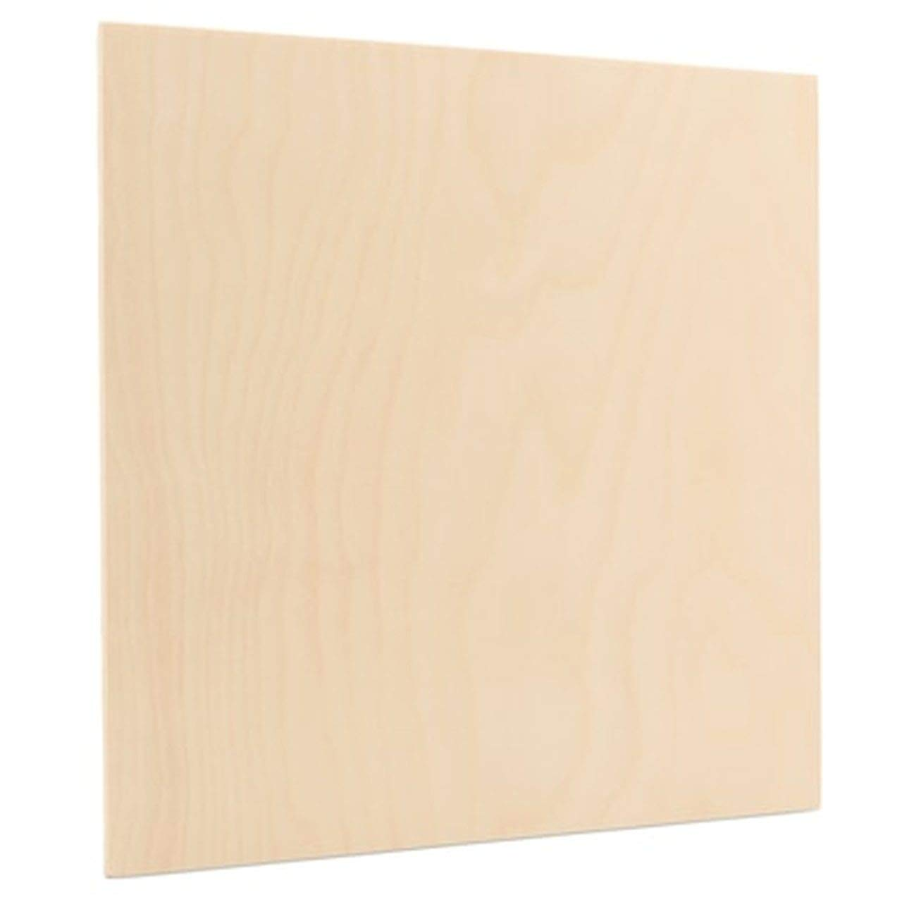 6 mm 1/4'' x 10'' x 10'' Premium Baltic Birch Plywood, B/BB Birch Veneer Sheets, Perfect for Laser, CNC Cutting and Wood Burning and DIY Projects one Clear face (Box of 24) by The Kitchen Zone