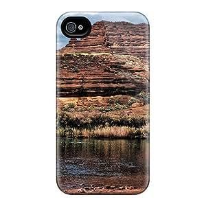DustinHVance Premium Protective Hard Ipod Touch 5 - Nice Design - Rocks Above A Desert Lake