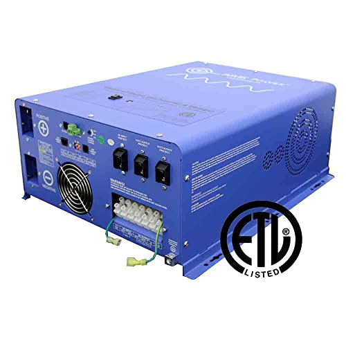 AIMS Power PICOGLF4024240SUL Pure Sine Inverter Charger, 4000W, 24Vdc to 120 240Vac Output, Listed to UL 458 CSA, 12000 Watt Surge for 20 Seconds