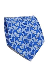 M.C. Escher Bird and Fish Tie – Blue