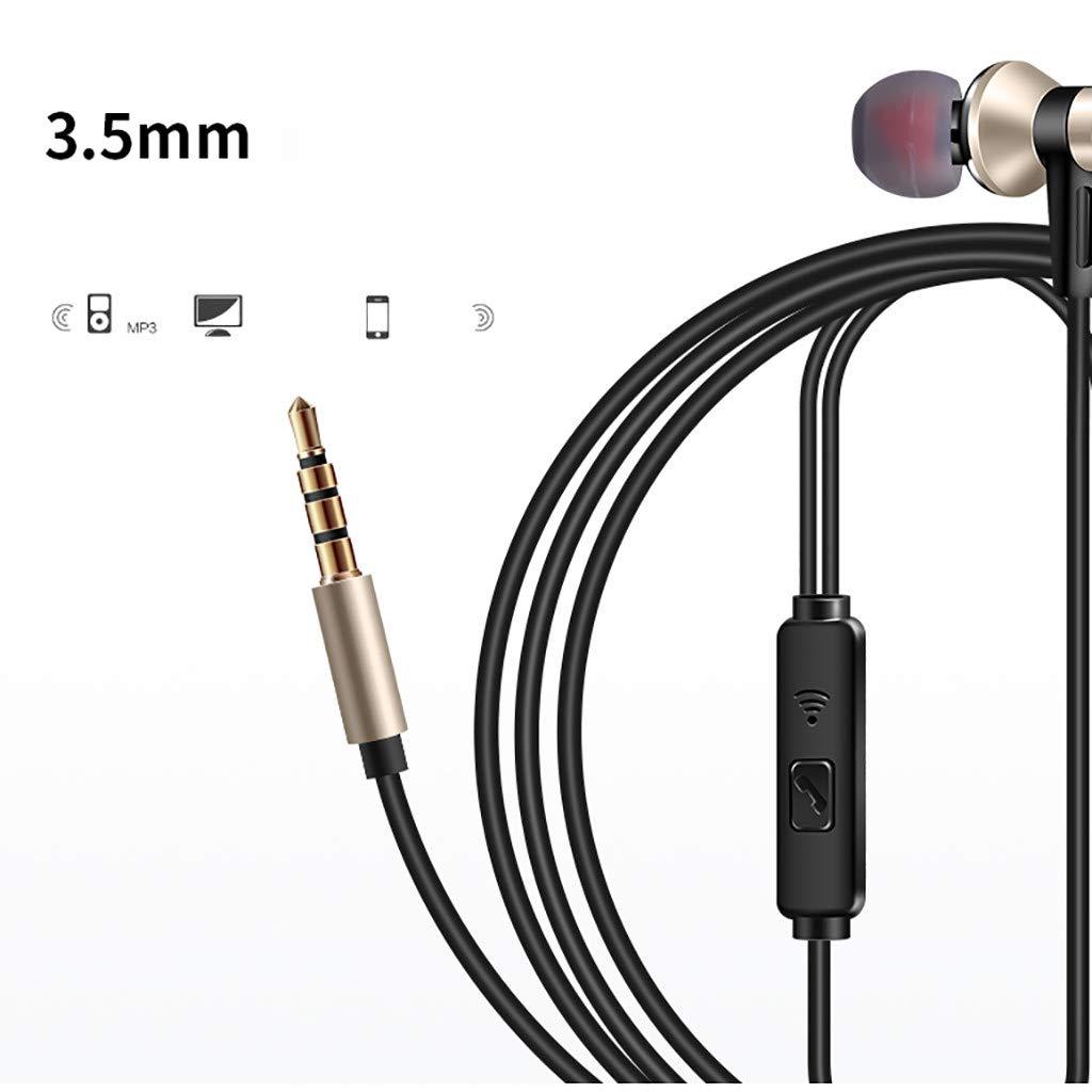 Smartphones MP3 Players Android Samsung In Ear Kopfh/örer Soicear Stereo Ohrh/örer mit Mikrofon Fernsteuerung Kopfh/örer Noise Cancelling Bass-Sound f/ür iPhone Galaxy iPad Gold