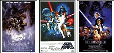 Star Wars Original Classics Movie Poster Set Of 3 Art Prints