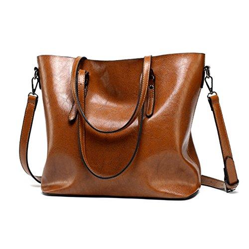 Womens Purses and Handbags Ladies Designer Shoulder Bags Satchel Tote Bag (Brown) by Nice Choice