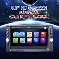 Double DIN Car Stereo Audio MP5 Player 6.6 Touchscreen Stereo with Bluetooth / Rear View Camera / FM Tuner and HD Radio Fit for 12V Voltage Support Hands-free Calls(with Backup Camera)