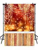 5x7ft Gold Neon Backdrops for Kids Seamless Wood Floor Photography Backdrop Photo Backdrop for Studio