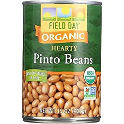 Field Day Beans, Og, Pinto, 15-Ounce (Pack of 12)