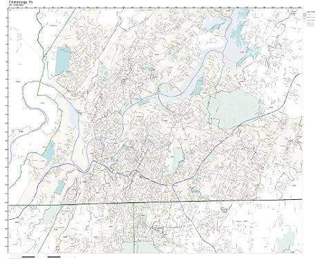 Amazon.com: ZIP Code Wall Map of Chattanooga, TN ZIP Code ... on counties of atlanta georgia, counties of portland oregon, counties of jacksonville florida,