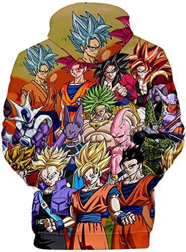 À Avec Poche Ball Flychen Goku Super 00823 Dragon Kangourou 3d Sweats Pull Impression Assembler Capuche Son Homme 17nxW5nOY