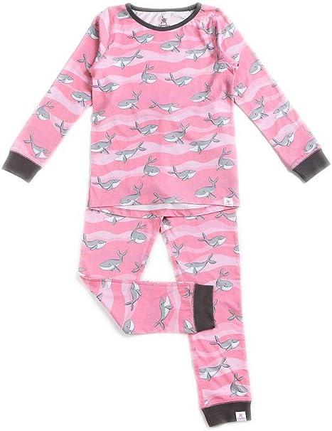 OceanBluu - Pijama de manga larga para niña, 100% algodón orgánico y certificado de comercio justo, suave pijama para niños: Amazon.es: Ropa y accesorios