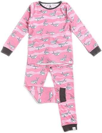 OceanBluu - Pijama de manga larga para niña, 100% algodón orgánico ...