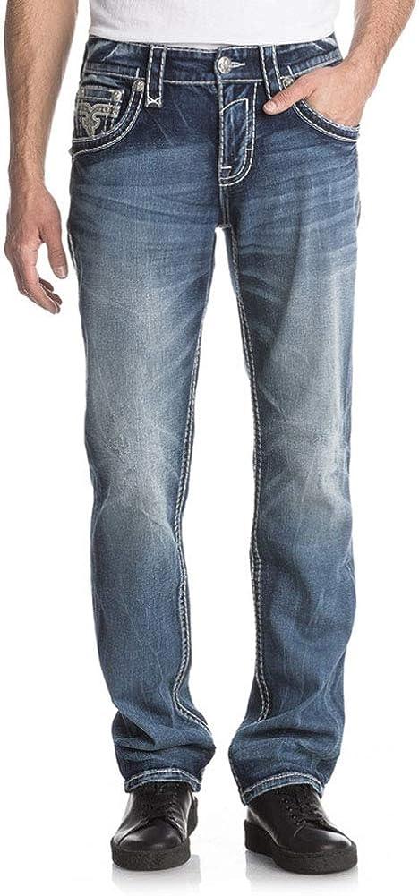 Mens Ephal A204 Alt Straight Jeans Rock Revival