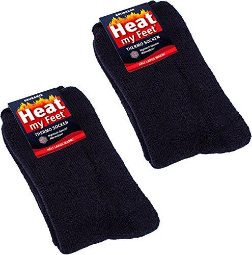 BRUBAKER Chaussettes thermiques 'Heat my Feet' - Lot de 2 Paires - Ultra chaudes et confortables - Unisexe 4